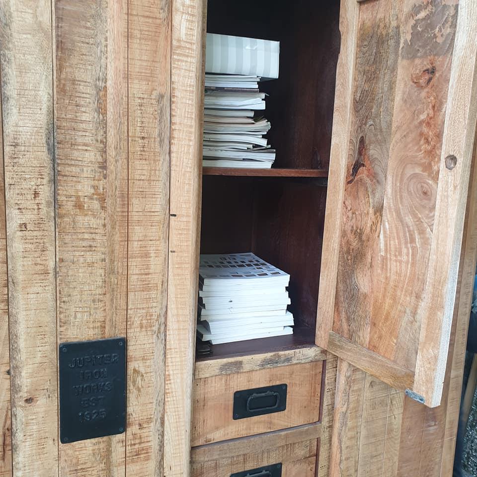 Armadio ante scorrevoli 4 cassetti Newport - NUOVA IDEA